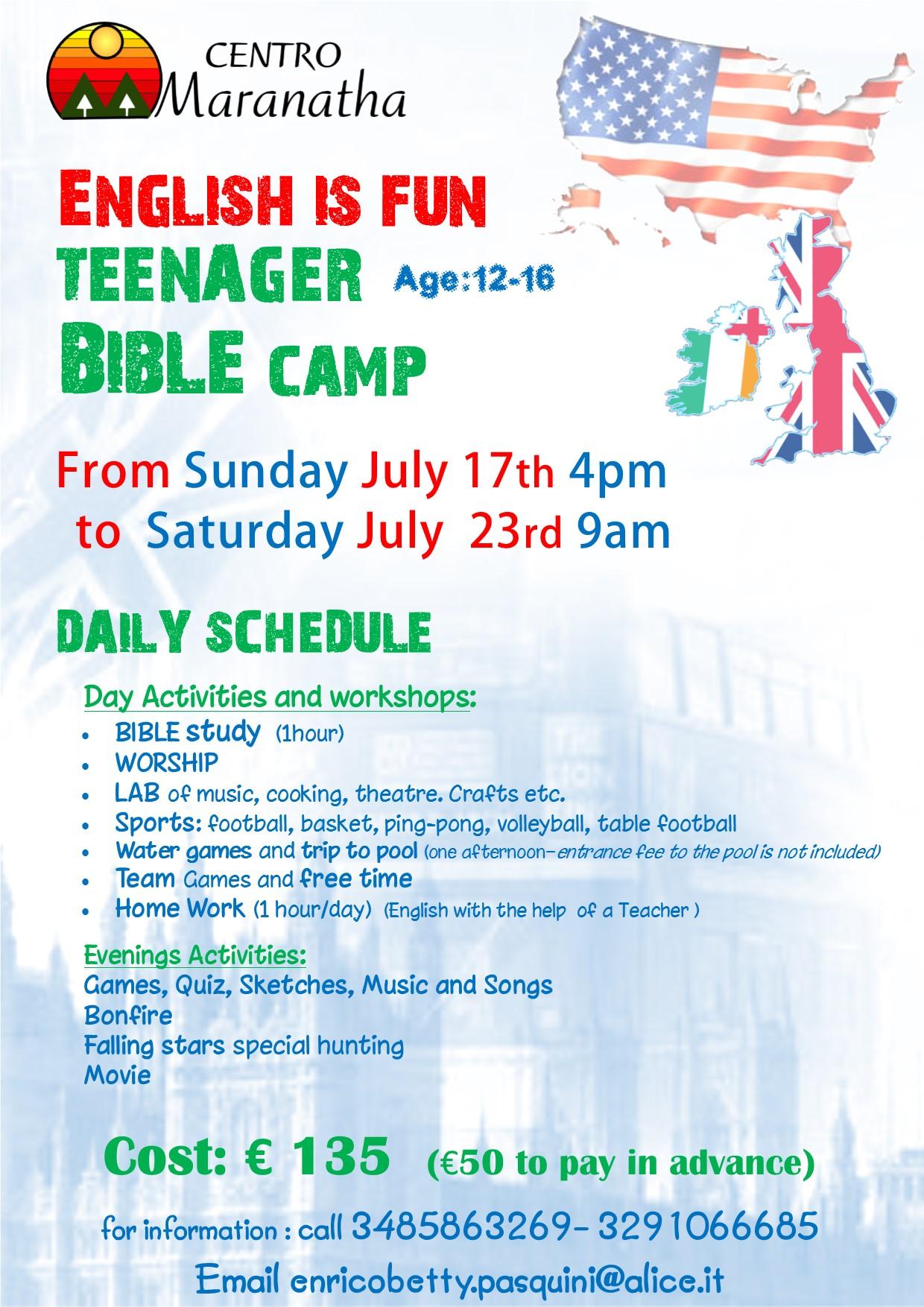 POSTER english is fun 2016 camp